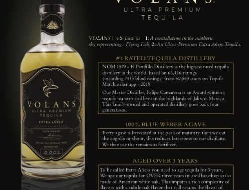 Volans Ultra Premium Luxury Tequila – Extra Añejo Sell Sheet