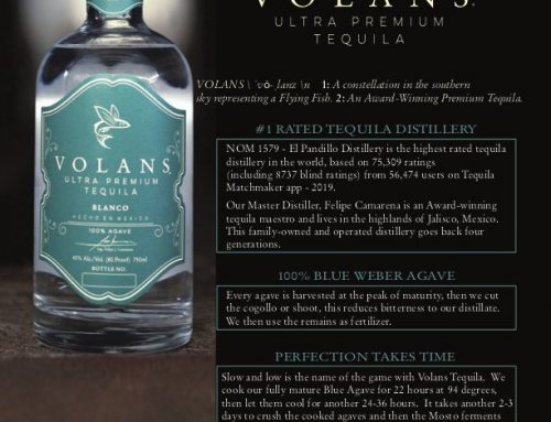 Volans Ultra Premium Luxury Tequila – Blanco Sell Sheet