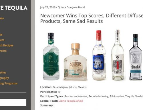 Volans Blanco Wins Taste Tequila's Blind Taste Test – July 2019
